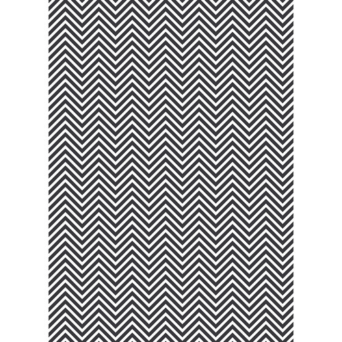 Westcott Classic Chevron Matte Vinyl Backdrop with Grommets (5 x 7', Rich Gray)