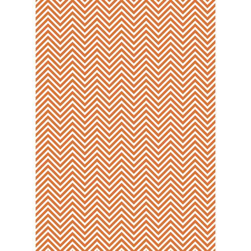 Westcott Classic Chevron Matte Vinyl Backdrop with Grommets (5 x 7', Rich Orange)