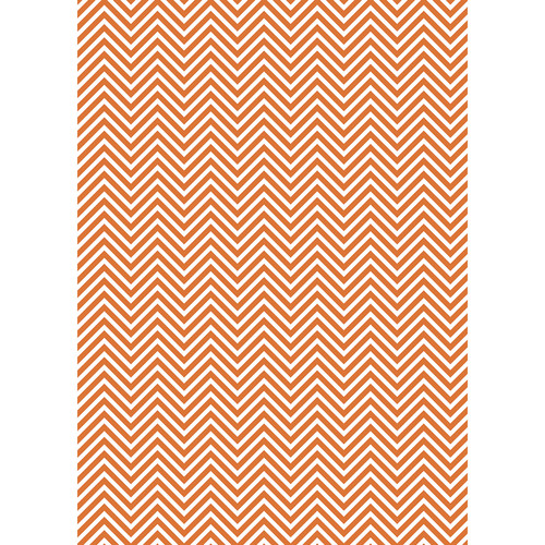 Westcott Classic Chevron Matte Vinyl Backdrop with Grommets (5 x 7', Rich Orange)
