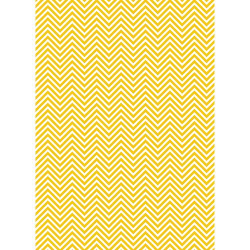 Westcott Classic Chevron Matte Vinyl Backdrop with Grommets (5 x 7', Rich Yellow)