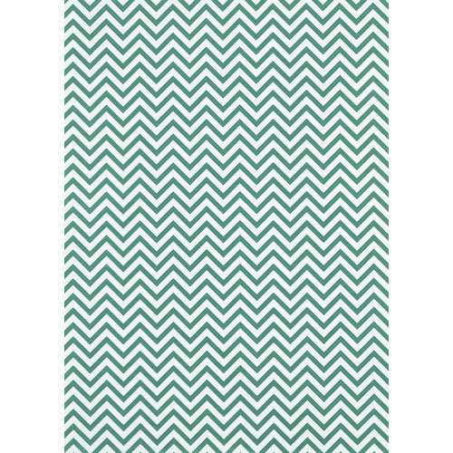 Westcott Narrow Chevron Art Canvas Backdrop with Grommets (5 x 7', Turquoise)