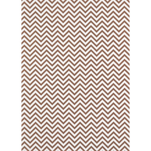 Westcott Narrow Chevron Art Canvas Backdrop with Grommets (5 x 7', Brown)
