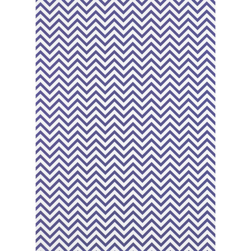 Westcott Narrow Chevron Art Canvas Backdrop with Grommets (5 x 7', Purple)