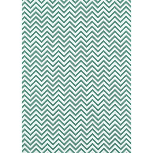 Westcott Narrow Chevron Matte Vinyl Backdrop with Grommets (5 x 7', Turquoise)