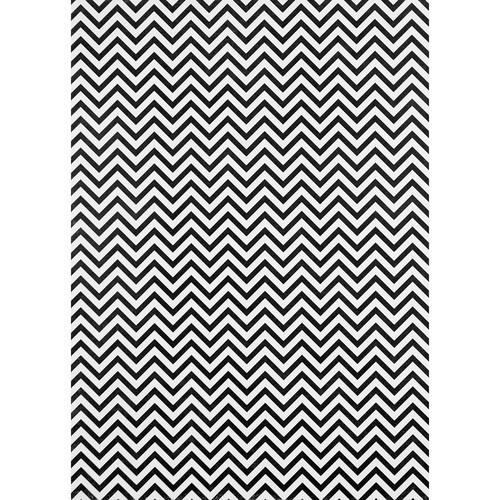 Westcott Narrow Chevron Matte Vinyl Backdrop with Grommets (5 x 7', Black)
