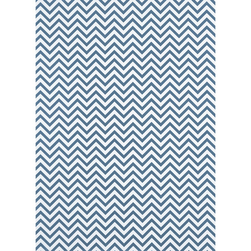 Westcott Narrow Chevron Matte Vinyl Backdrop with Grommets (5 x 7', Blue)