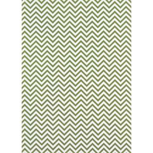 Westcott Narrow Chevron Matte Vinyl Backdrop with Grommets (5 x 7', Green)