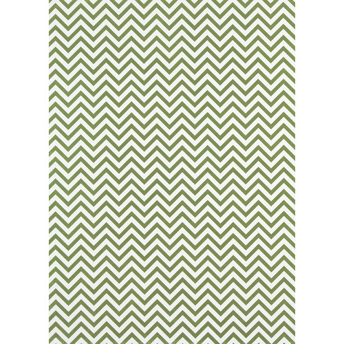 Westcott Narrow Chevron Matte Vinyl Backdrop with Grommets (5 x 7', Green)