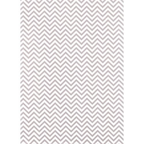 Westcott Narrow Chevron Matte Vinyl Backdrop with Grommets (5 x 7', Gray)