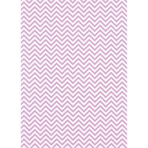 Westcott Narrow Chevron Matte Vinyl Backdrop with Grommets (5 x 7', Pink)