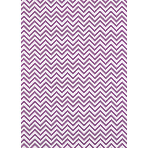 Westcott Narrow Chevron Matte Vinyl Backdrop with Grommets (5 x 7', Plum)