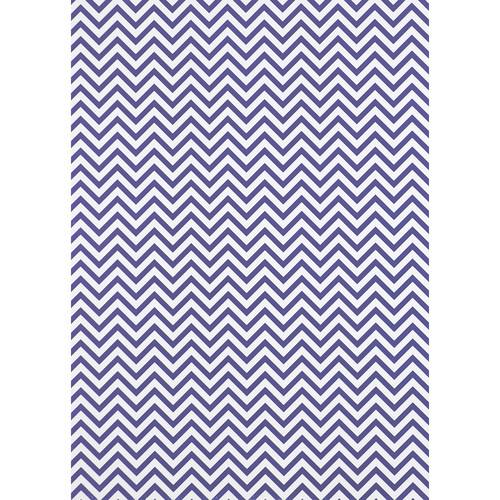 Westcott Narrow Chevron Matte Vinyl Backdrop with Grommets (5 x 7', Purple)