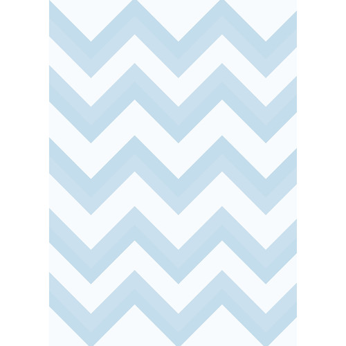 Westcott Wide Chevron Matte Vinyl Backdrop with Grommets (5 x 7', Blue)