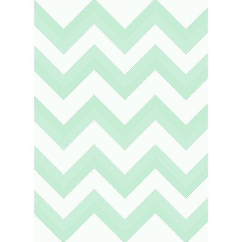 Westcott Wide Chevron Matte Vinyl Backdrop with Grommets (5 x 7', Green)
