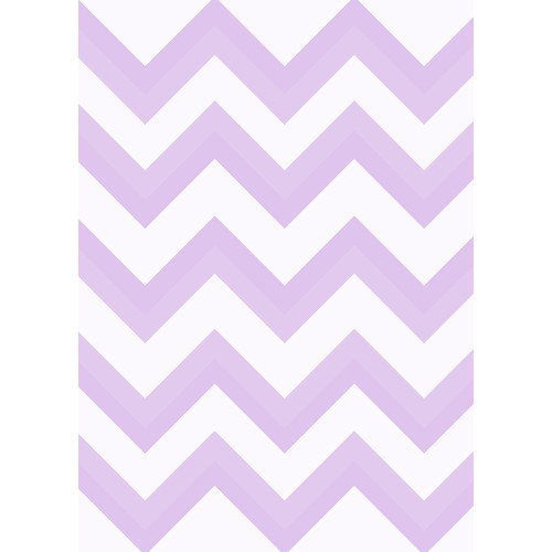 Westcott Wide Chevron Matte Vinyl Backdrop with Grommets (5 x 7', Purple)