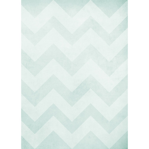 Westcott Washed Chevron Art Canvas Backdrop with Grommets (5 x 7', Light Turquoise)