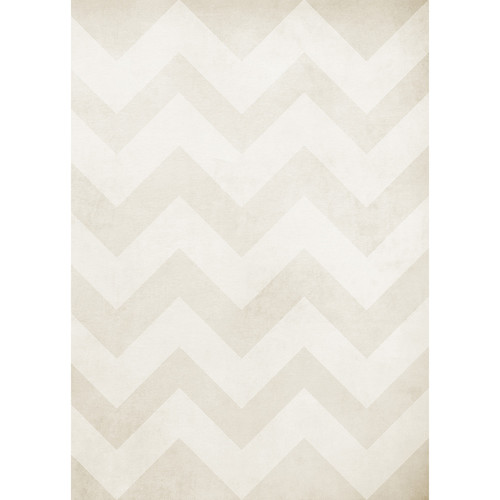 Westcott Washed Chevron Art Canvas Backdrop with Grommets (5 x 7', Light Brown)