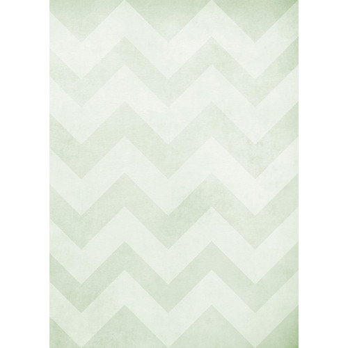 Westcott Washed Chevron Art Canvas Backdrop with Grommets (5 x 7', Light Green)