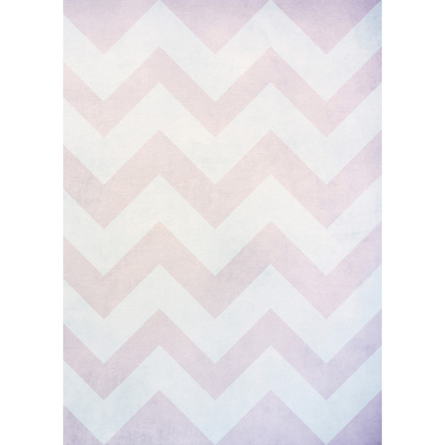 Westcott Washed Chevron Art Canvas Backdrop with Grommets (5 x 7', Light Orchid)