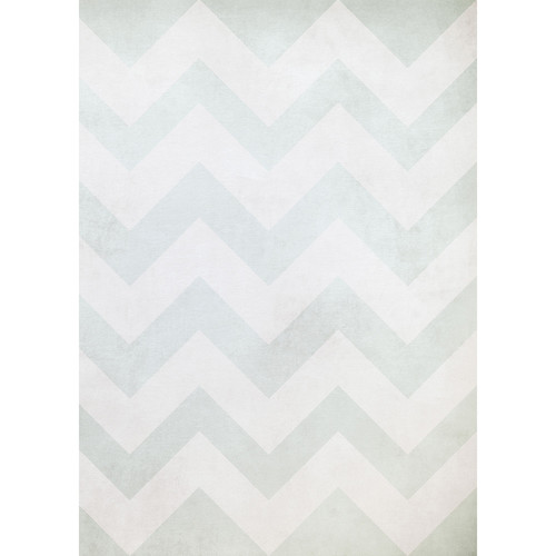 Westcott Washed Chevron Matte Vinyl Backdrop with Grommets (5 x 7', Light Navy)