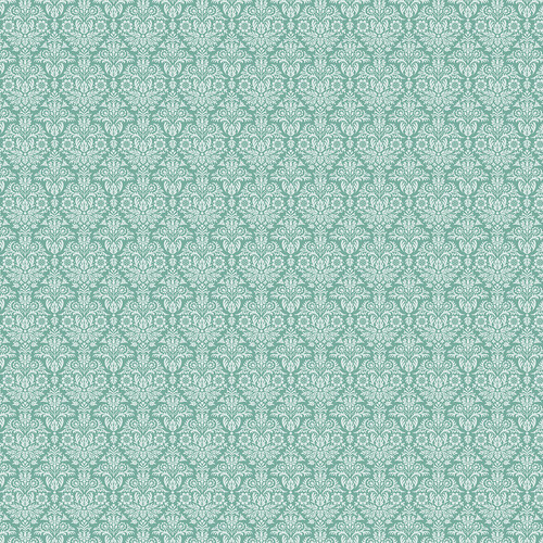Westcott Classic Damask Art Canvas Backdrop with Hook-and-Loop Attachment (3.5 x 3.5', Turquoise)