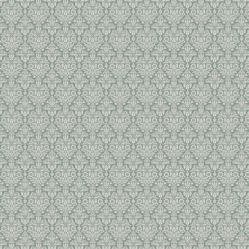 Westcott Classic Damask Matte Vinyl Backdrop with Hook-and-Loop Attachment (3.5 x 3.5', Green)