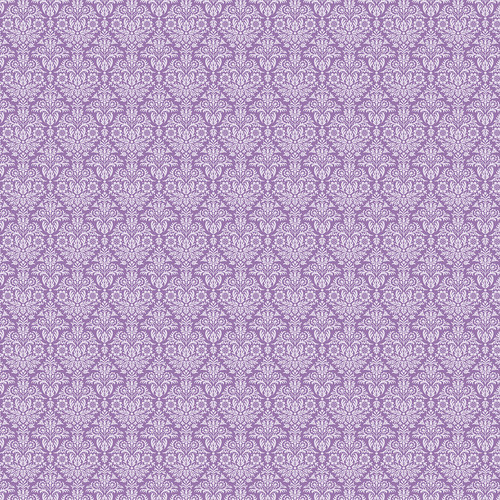 Westcott Classic Damask Matte Vinyl Backdrop with Hook-and-Loop Attachment (3.5 x 3.5', Purple)