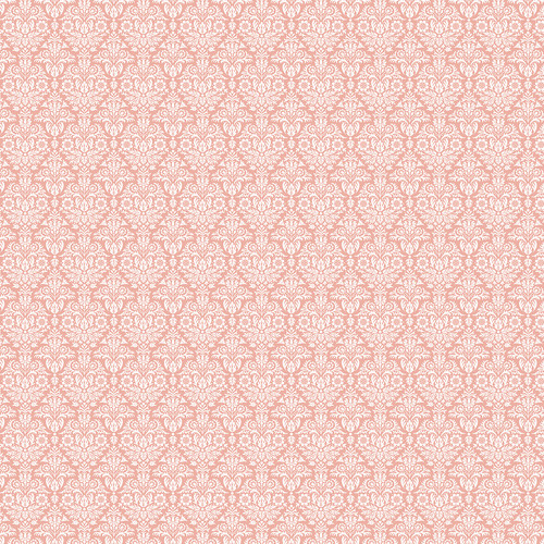 Westcott Classic Damask Matte Vinyl Backdrop with Hook-and-Loop Attachment (3.5 x 3.5', Peach)