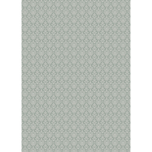 Westcott Classic Damask Art Canvas Backdrop with Grommet Attachment (5 x 7', Green)