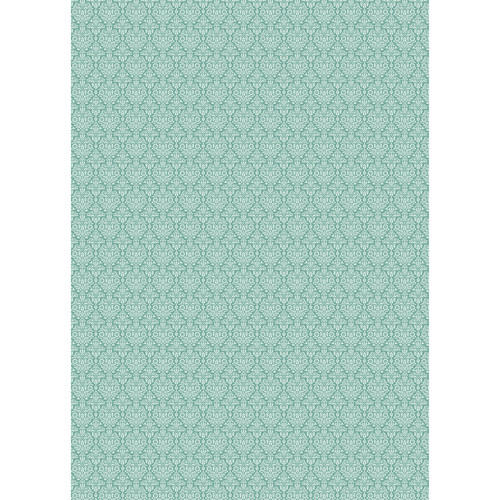 Westcott Classic Damask Matte Vinyl Backdrop with Grommets (5 x 7', Turquoise)