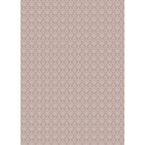 Westcott Classic Damask Matte Vinyl Backdrop with Grommets (5 x 7', Brown)