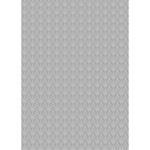 Westcott Classic Damask Matte Vinyl Backdrop with Grommets (5 x 7', Gray)