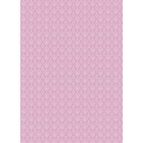 Westcott Classic Damask Matte Vinyl Backdrop with Grommets (5 x 7', Pink)