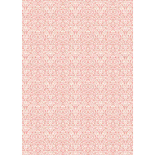 Westcott Classic Damask Matte Vinyl Backdrop with Grommets (5 x 7', Peach)