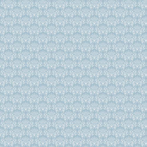 Westcott Elegant Damask Art Canvas Backdrop with Hook-and-Loop Attachment (3.5 x 3.5', Blue)
