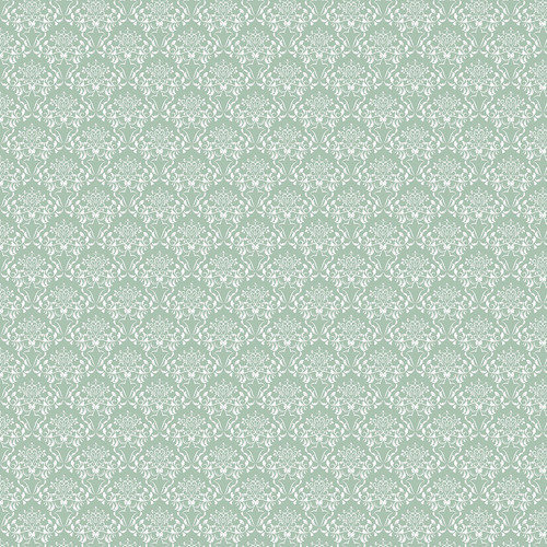 Westcott Elegant Damask Matte Vinyl Backdrop with Hook-and-Loop Attachment (3.5 x 3.5', Green)