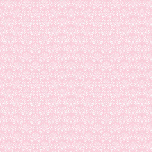 Westcott Elegant Damask Matte Vinyl Backdrop with Hook-and-Loop Attachment (3.5 x 3.5', Pink)