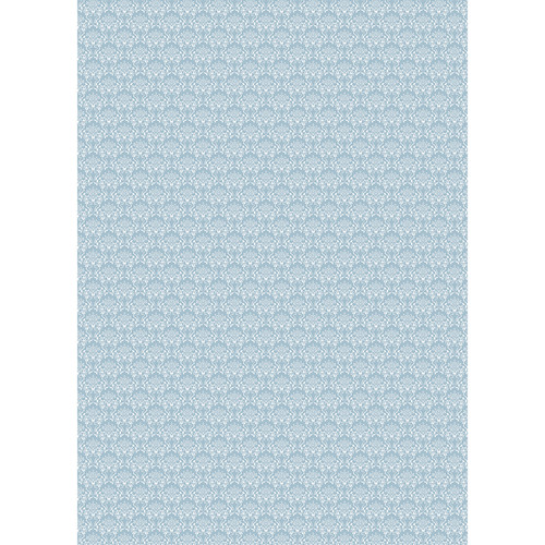 Westcott Elegant Damask Art Canvas Backdrop with Grommets (5 x 7', Blue)