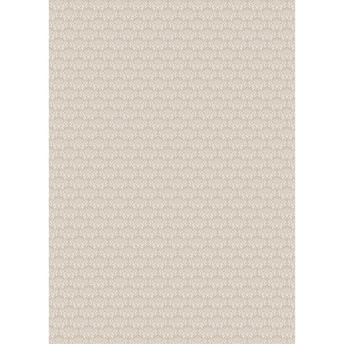 Westcott Elegant Damask Art Canvas Backdrop with Grommets (5 x 7', Brown)