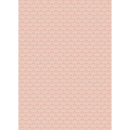 Westcott Elegant Damask Art Canvas Backdrop with Grommets (5 x 7', Orange)