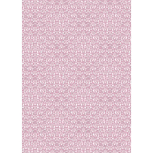 Westcott Elegant Damask Art Canvas Backdrop with Grommets (5 x 7', Orchid)