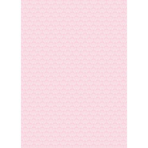 Westcott Elegant Damask Art Canvas Backdrop with Grommets (5 x 7', Pink)