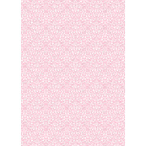 Westcott Elegant Damask Art Canvas Backdrop with Grommets (5 x 7', Pink)