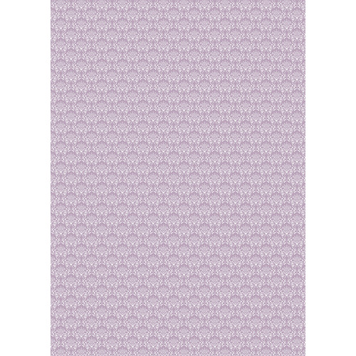 Westcott Elegant Damask Art Canvas Backdrop with Grommets (5 x 7', Purple)