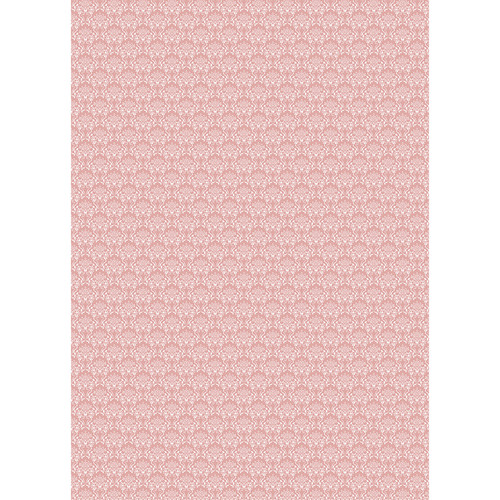 Westcott Elegant Damask Art Canvas Backdrop with Grommets (5 x 7', Red)