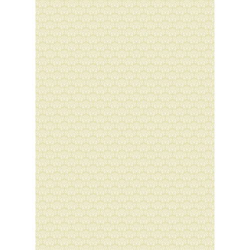 Westcott Elegant Damask Art Canvas Backdrop with Grommets (5 x 7', Yell)