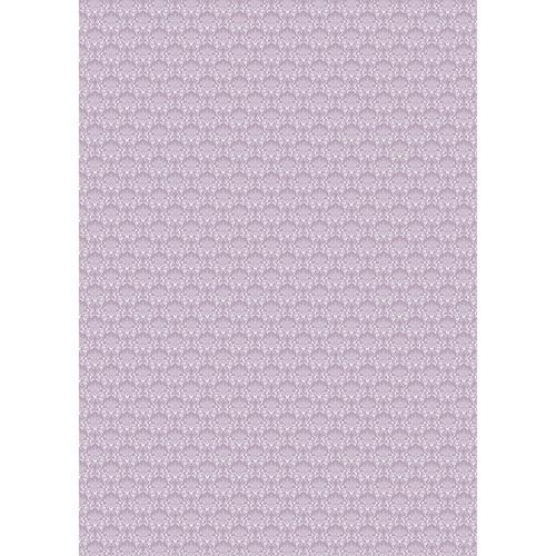 Westcott Elegant Damask Matte Vinyl Backdrop with Grommets (5 x 7', Purple)
