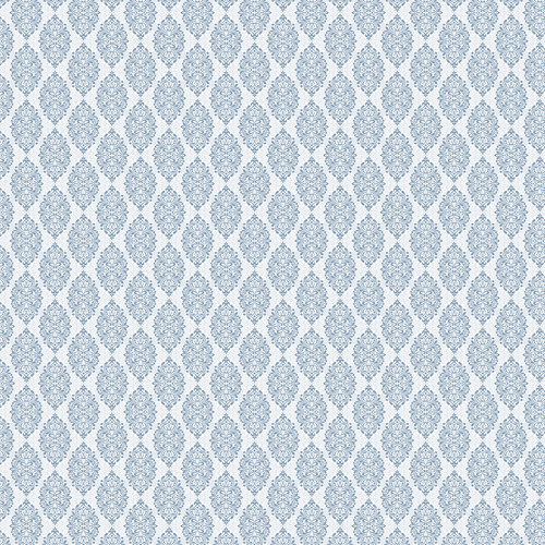 Westcott Modern Damask Art Canvas Backdrop with Hook-and-Loop Attachment (3.5 x 3.5', Light Blue)