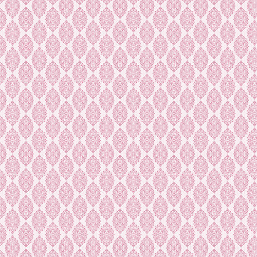 Westcott Modern Damask Art Canvas Backdrop with Hook-and-Loop Attachment (3.5 x 3.5', Light Pink)