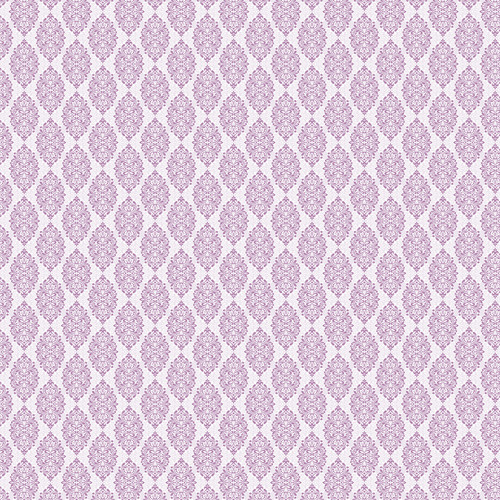 Westcott Modern Damask Art Canvas Backdrop with Hook-and-Loop Attachment (3.5 x 3.5', Light Plum)